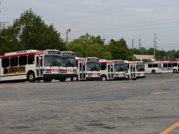 group of SEPTA's Neoplans at Frontier - Photo taken by Ryan Lock